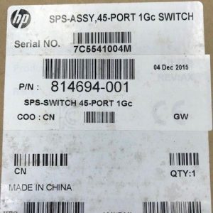814694-001 710601-002 HP 45 Port 1Gc Switch New – Inc VAT, Warranty, Delivery